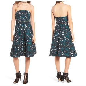 Keepsake the Label Floral Strapless Midi Dress